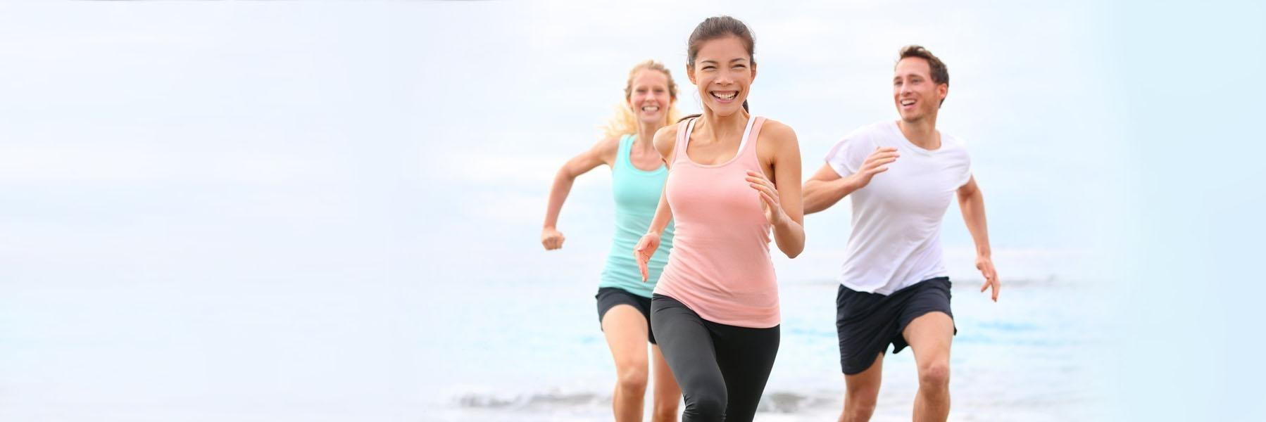 People running with dental crowns in Edmond OK